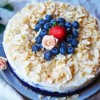 Blåbärscheesecake liten