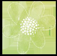 Liten blomma grön